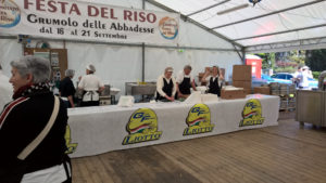 Stand gastronomico Grranfondo Liotto città di Vicenza
